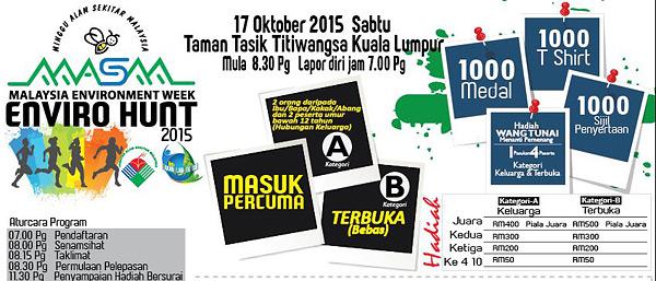 enviro-hunt-2015-masm-minggu-alam-sekitar-malaysia-tasik-titiwangsa-eshamzhalim